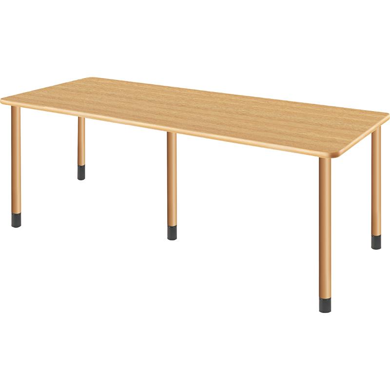 医療・福祉施設向けテーブル 幅1800×奥行き750×高さ656~736mm ※高さ3段階調節可能【UFT-5K1875】