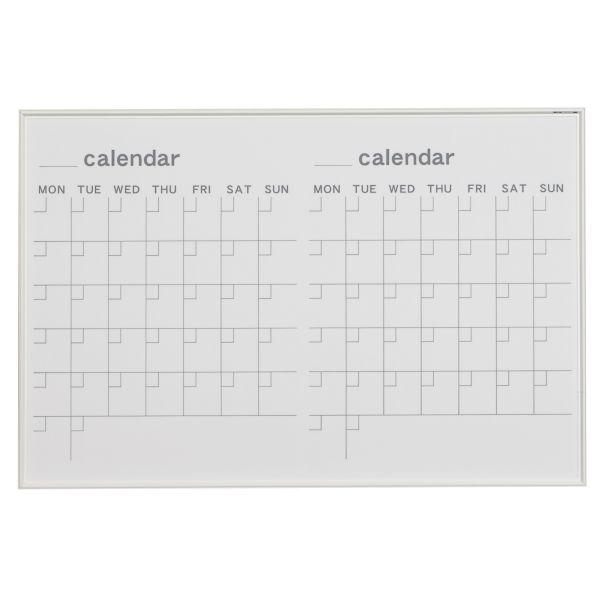 MRシリーズ ホワイトボード カレンダー 910×610mm【MR23W】