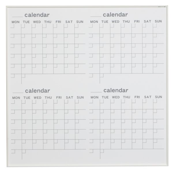 MRシリーズ ホワイトボード カレンダー 910×910mm【MR33W】