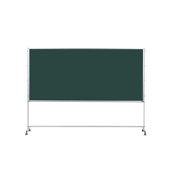Pシリーズ 脚付 片面スチールグリーン黒板 2700×1215mm【PTS409】