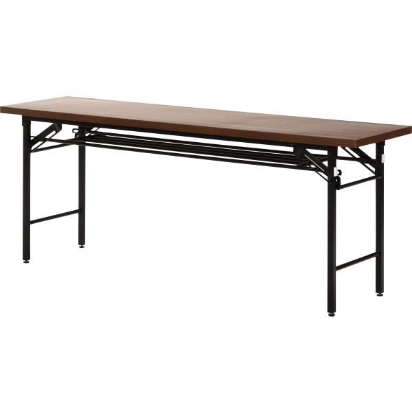 不二貿易 会議テーブル(ハイタイプ) 4570D 幅180×奥行45×高さ70cm 94464【送料無料】