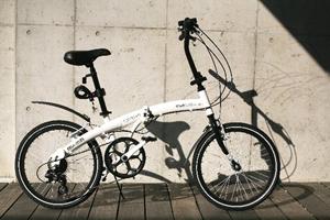 HANWA WACHSEN<ヴァクセン> 20インチアルミ折りたたみ自転車6段変速付 Weiβ(ヴァイス) BA-101 シマノ6段変速