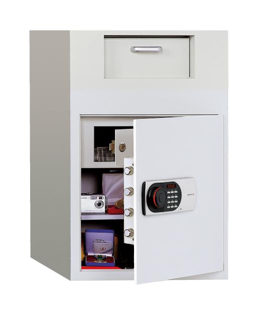 【受注生産品】ディプロマット・ジャパン 投入式金庫 DS30 EDL88デジタルテンキーロック搭載 ビルトイン・アラーム容量上段35L+下段72L ※耐火性能はありません