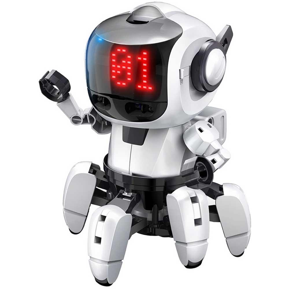 親も子供も夢中 エレキットのサイエンスロボット工作 エレキット ELEKIT プログラミング フォロ for PaletteIDE 記念日 赤外線 レーダー 搭載 ロボット工作キット サイエンス工作 6足走行 工作キット FOLO MR-9110 ロボット ロボットキット 定価 おもちゃ