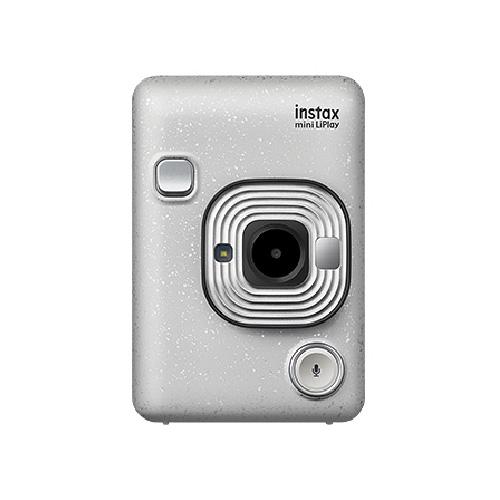 【送料&ラッピング無料】FUJIFILM<富士フイルム> ハイブリッドインスタントカメラ チェキ「instax mini LiPlay」ストーンホワイト