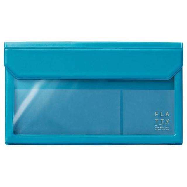 カバンの中の小物をすっきりとまとめられる フラッティ メール便1個までなら送料290円 キングジム KING 公式通販 JIM 日本メーカー新品 封筒サイズ 水色 FLATTY 5362ミス