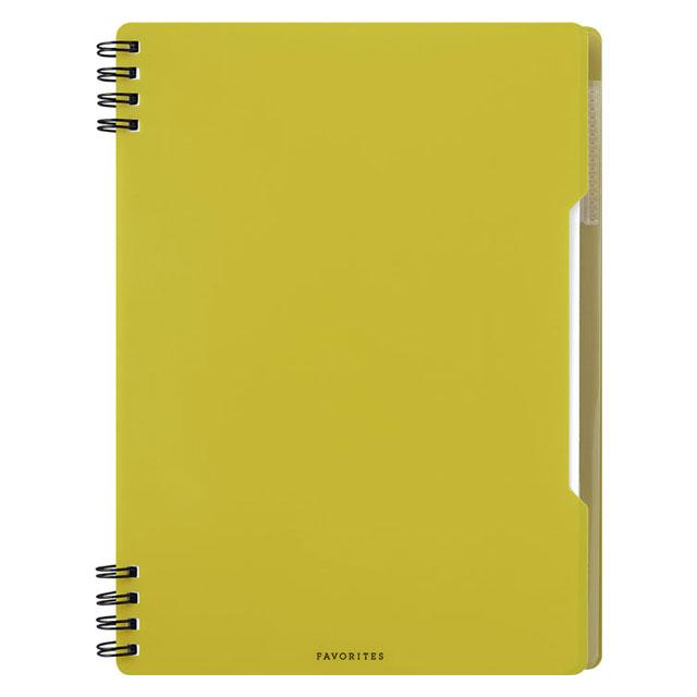 絶品 メール便なら送料240円 キングジム フェイバリッツ お求めやすく価格改定 リングノート A5サイズ 透明 FV9054Tキイ 黄色