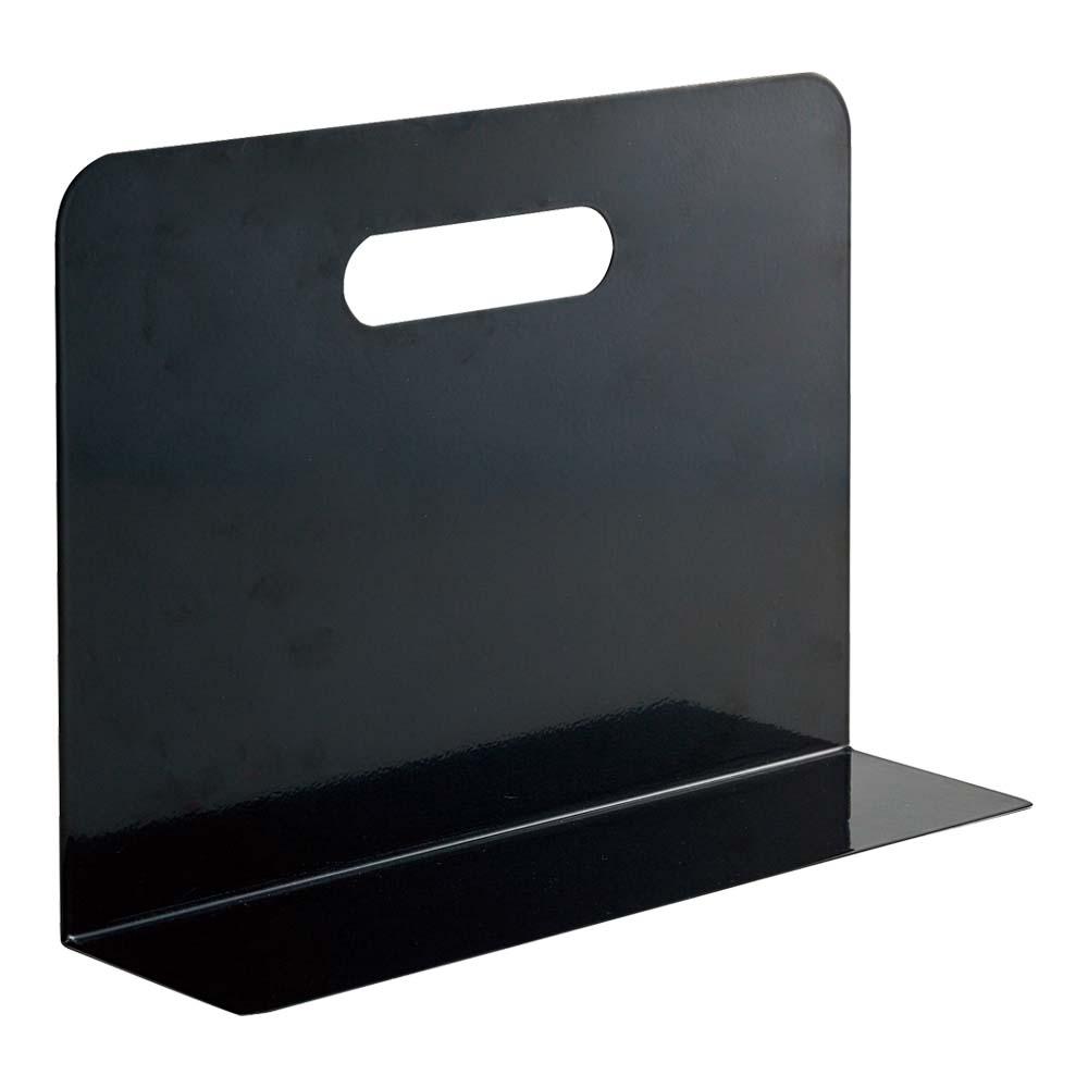 スチール製のキャビネットに最適なマグネット付き ブックエンド ワイドタイプ A7352-24 マグネット付 流行 黒 激安価格と即納で通信販売