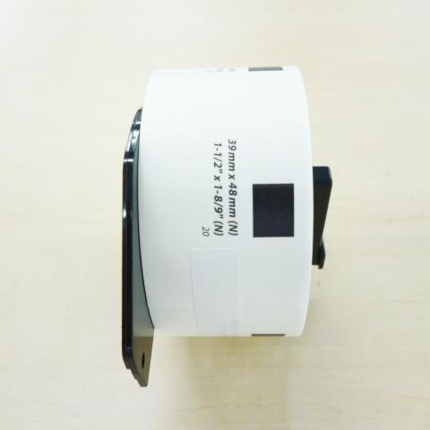 マックス MAX 5%OFF 感熱ラベルプリンタ メイルオーダー ELP-60用上質感熱紙ラベル ELP-60N対応 ダイカットラベル ELP-L3948N-20 ELP-60S