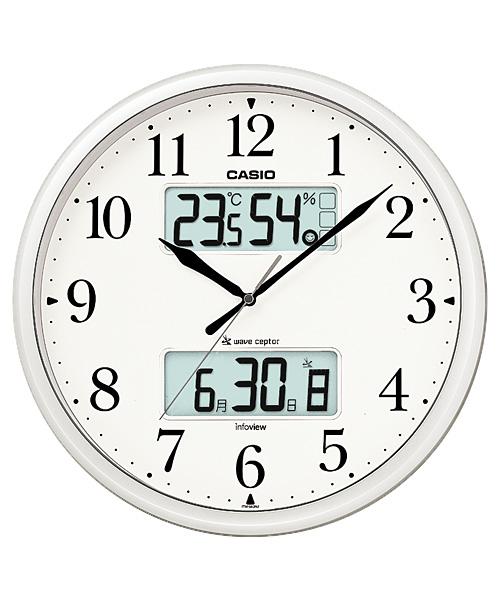 【送料無料!】カシオ(CASIO) 壁掛け時計 パールシルバー 電波時計 ITM-660NJ-8JF