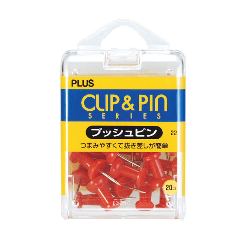 プラス(PLUS)ピン プッシュピン 20個入 レッド CP-102P 35-361