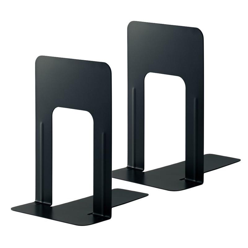 永遠の定番モデル プラス PLUS 新品未使用正規品 ブックエンド 本立 BS-201 ブラック Lサイズ 36-331