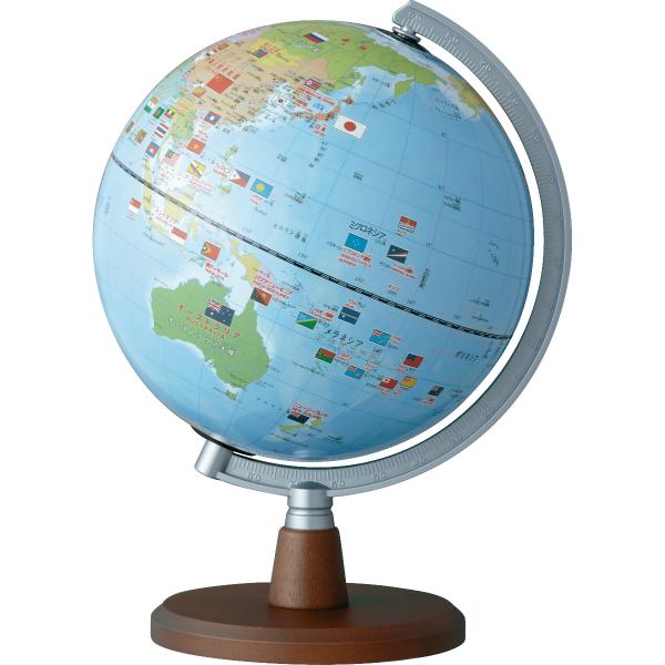 【ラッピング無料】【送料無料】レイメイ藤井 しゃべる国旗付き地球儀 OYV46 球径20cm
