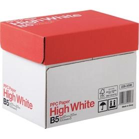 送料無料キャンペーン中 ※沖縄 離島は除く PPC用紙 ハイホワイト High NEW ARRIVAL White B5 68g 2500枚 セール商品 m2 500枚×5冊 白色度93% 1箱 コピー用紙