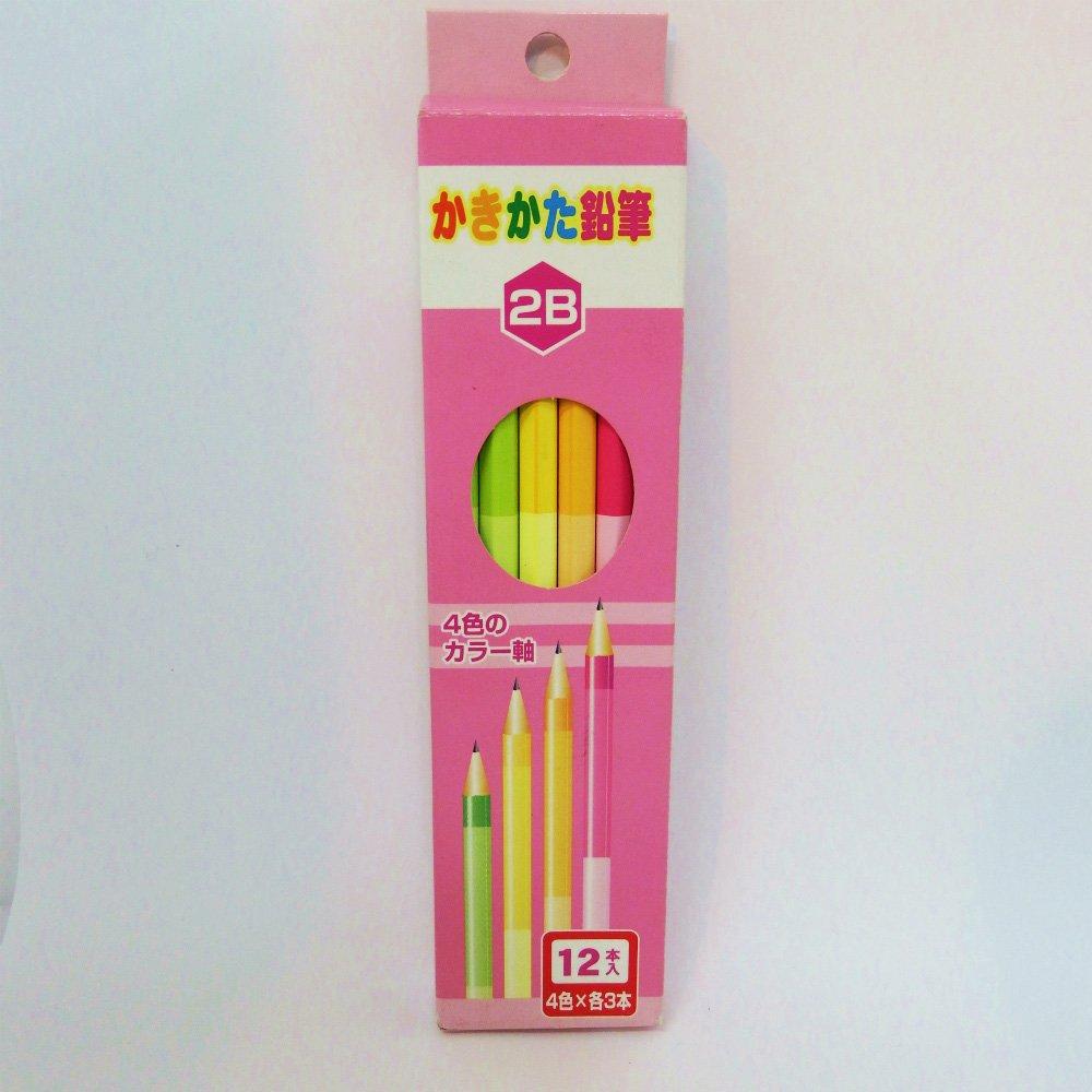 お中元 おすすめ文具フェア 流行 さらに今だけポイント10倍 9 30迄 メール便なら送料290円 サンフレイムジャパン 2B ダース 女 500-2302 4色軸のかきかた鉛筆