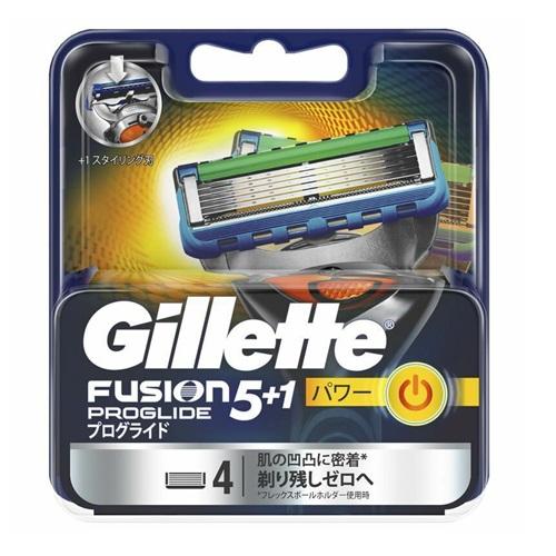 キャンペーンもお見逃しなく プログライドパワー 替刃4個入Gillette ジレット フュージョン5+1 PROGLIDE フレックスボール搭載ホルダー対応 POWER PP 定価の67%OFF