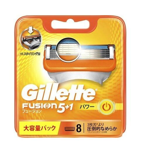 Gillette Fusion5+1 POWERジレット メーカー公式 フュージョン パワー FP 替え刃 カミソリ 激安通販販売 替刃8個入 髭剃り
