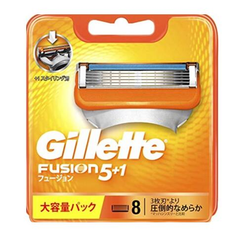 Gillette Fusion5+1ジレット フュージョン 替刃8個入 F 髭剃り 替え刃 人気急上昇 新作 人気 カミソリ