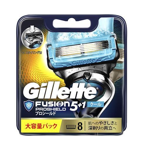 ジレット フュージョン5+1 プロシールドクール 替刃 8個入 オンラインショッピング Gillette PROSHIELD 替え刃 カミソリ PSC 髭剃り 新着