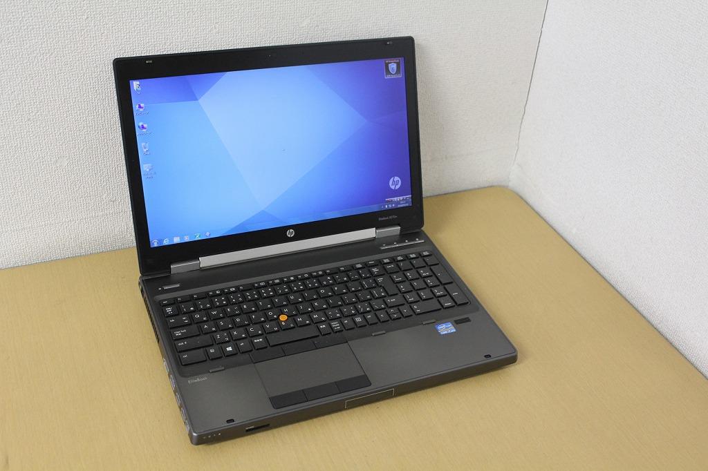 【中古】FULLHD液晶で画面も広々!第三世代i7 3740QM搭載♪メモリ16Gへ増設済み!DVD書き込みも出来るDVDマルチドライブ!hp 8570p『無線LAN搭載』『CD書込』『DVD書込』『DVD鑑賞』『リカバリ』『Windows7 Pro』『お買い得!通常品』