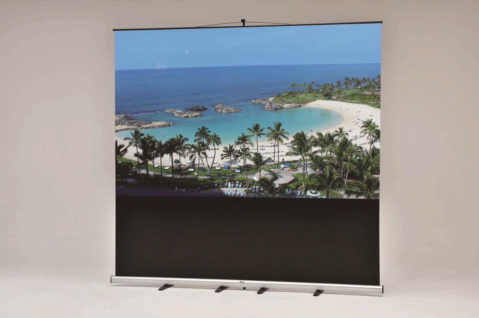 VISPRO モバイルスクリーン 新商品VMR-100  100インチ プロジェクタースクリーン 送料無料