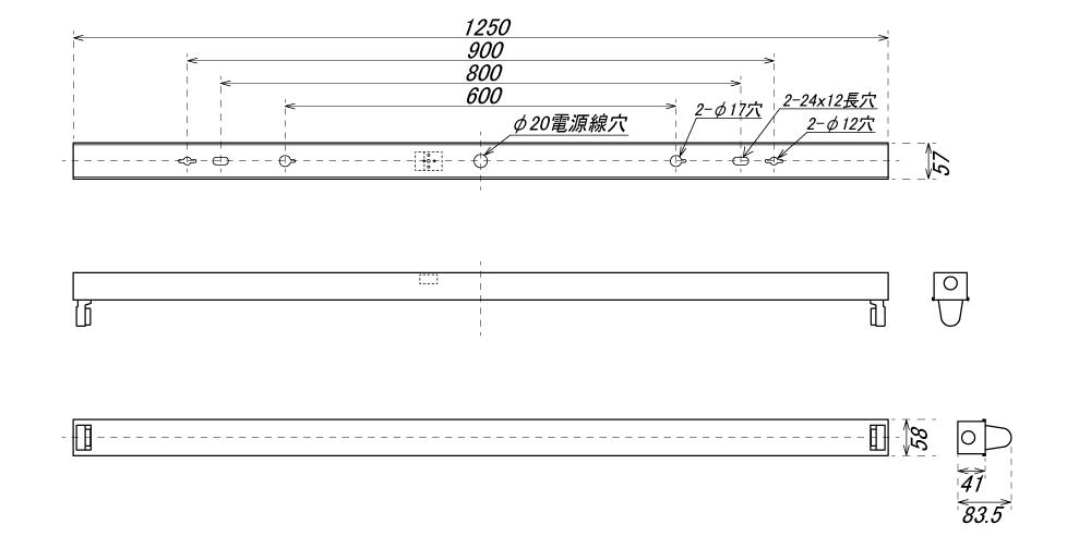 【組立キット】40形 トラフ 1灯用【ランプ別】 LEDベースライト器具 トラフ器具 トラフ型器具 LED蛍光灯 直管 40W型 灯具 G13 片側配線 両側配線 日本製 【国内メーカー】 日本エコテック(ECB-T401) 5%OFFクーポン配布中!