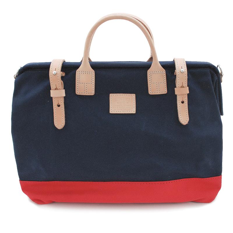 Heritage Leather | Mason Bag w/strap | Navy/Red | ヘリテージレザー