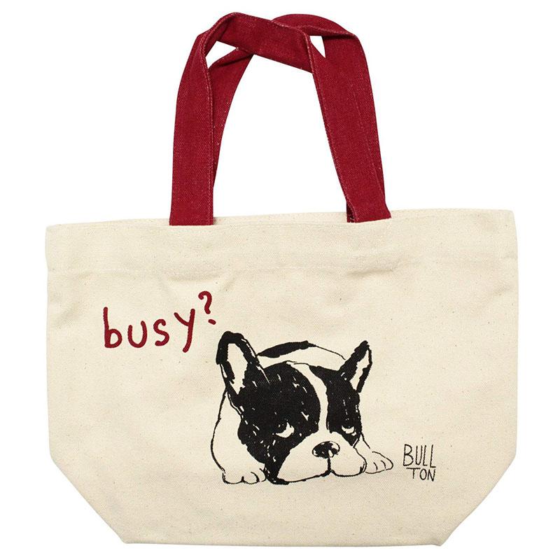 ミニ トートバッグ カマッテブルトン ランチバッグ 物品 お弁当袋 40%OFFの激安セール お散歩 いぬ ちょっとそこまでに 犬 イヌ フレンチブルドッグ