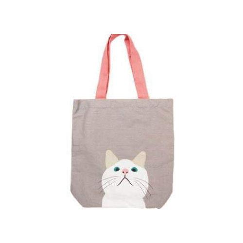 激安 A4トートバッグ ターチャン 通勤通学 通塾 白猫 トートバッグ ねこ ネコ 往復送料無料