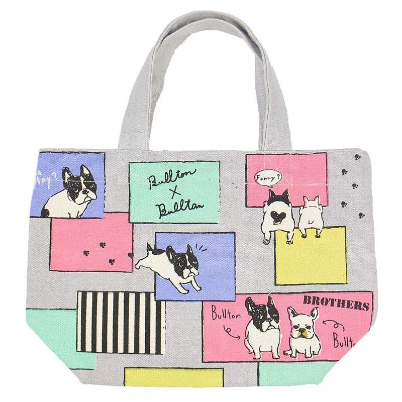 ミニ ファクトリーアウトレット トートバッグ トイブルトンズ ランチバッグ お弁当袋 人気ショップが最安値挑戦 お散歩 ちょっとそこまでに フレンチブルドッグ いぬ イヌ 犬