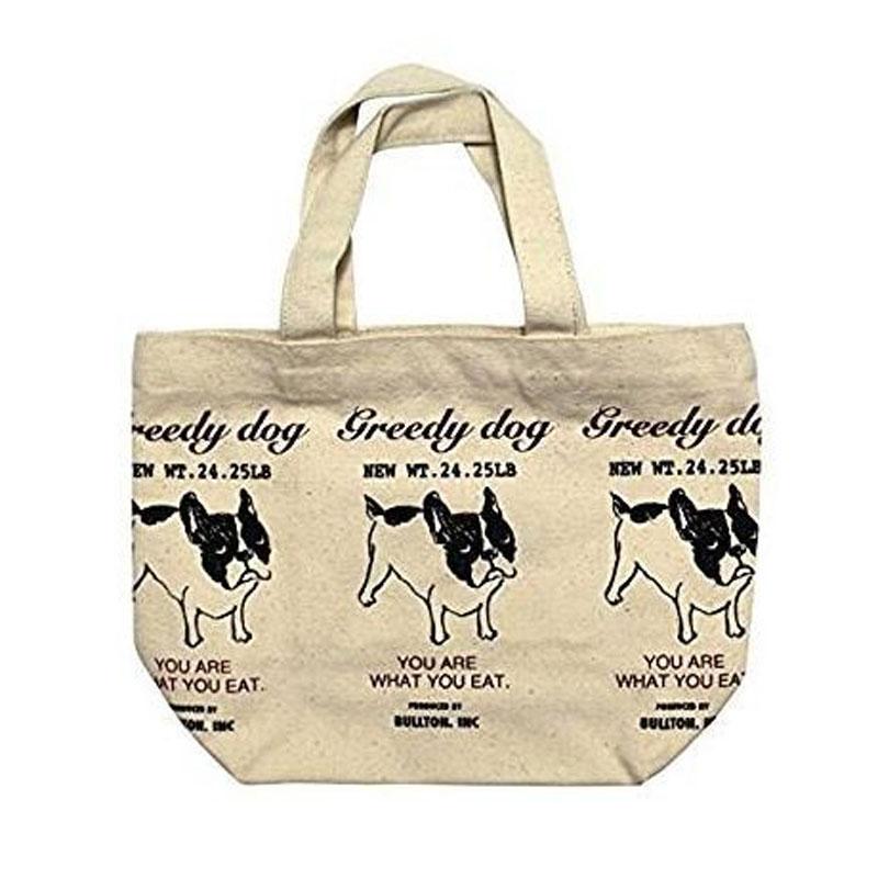 ミニ トートバッグ ブルトンマーケット ナチュラル ランチバッグ お弁当袋 高級な イヌ ちょっとそこまでに SALENEW大人気 犬 お散歩 いぬ フレンチブルドッグ