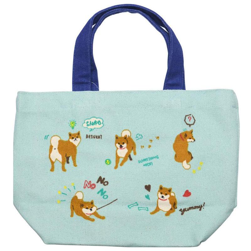ミニ トートバッグ しばたさんデイズ ランチバッグ お弁当袋 いぬ イヌ 新作 通販 大人気 柴犬 ちょっとそこまでに お散歩