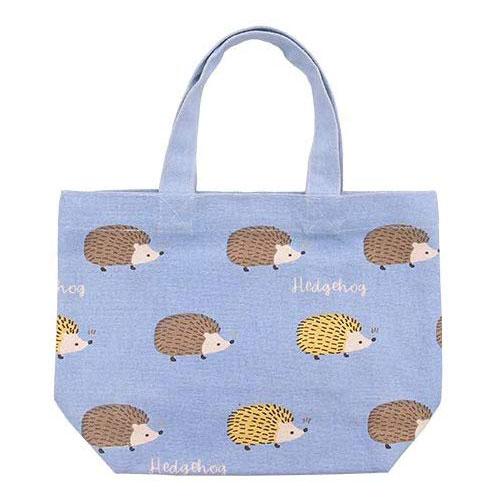 ミニ トートバッグ ヘッジホッグハリー ブルー 定番キャンバス ランチバッグ 公式サイト お弁当袋 お散歩 かわいい ミニトート はりねずみ ネズミ年 ちょっとそこまで おしゃれ ハリネズミ