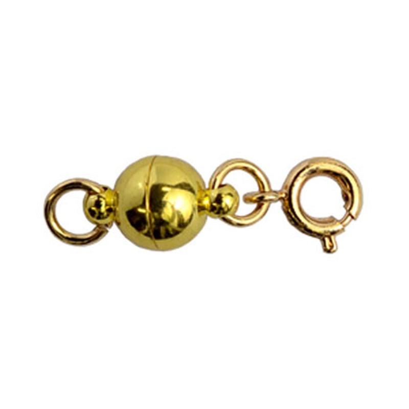 NEW ARRIVAL ネコポスOK マグネット留め具 付与 ゴールド 単品販売 つけにくいネックレスのイライラを解消 マグネットパーツ エンドパーツ 磁石金具