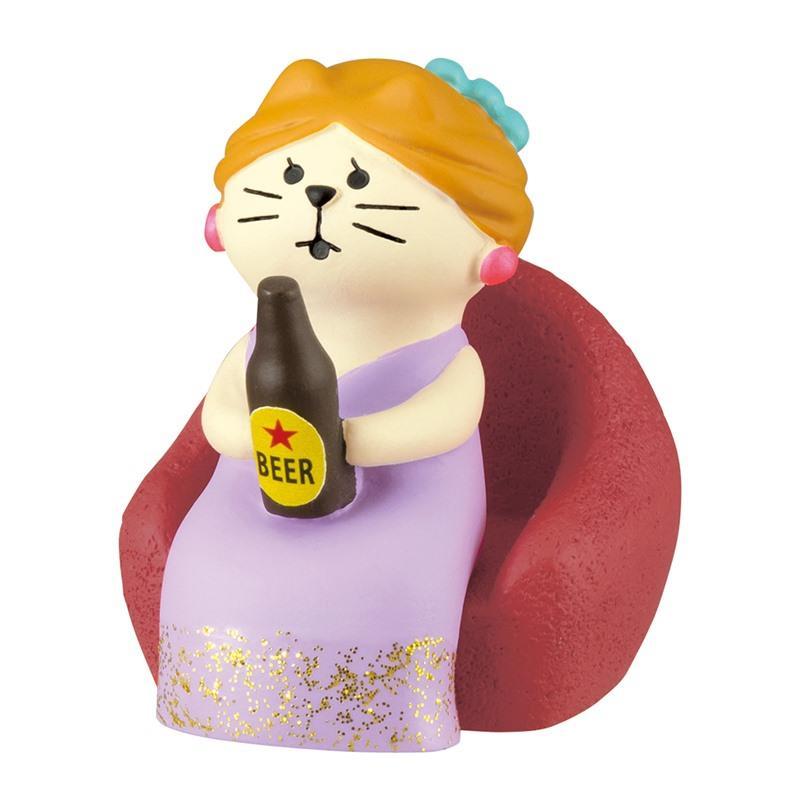 ミニチュア ドールハウス ジオラマ 人形 置物 クラブのママ猫 ソファ付き コンコンブル concombre ネコ ミニチュア家具 2020春夏新作 デコレ ねこ 18%OFF