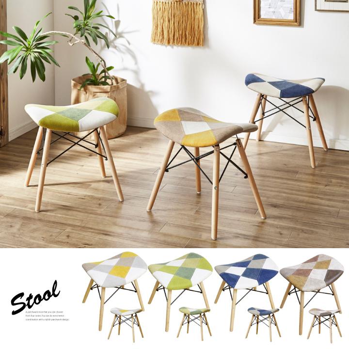 スツール おしゃれ パッチワーク チェアー ダイニングチェア チェア イス 椅子 新作製品、世界最高品質人気! リビングチェア パッチワークデザインがおしゃれなスツールです 新生活 無料サンプルOK 送料無料 ダイニング 食卓チェア リビング 通販 布 木製 お洒落 モダン カフェチェア いす