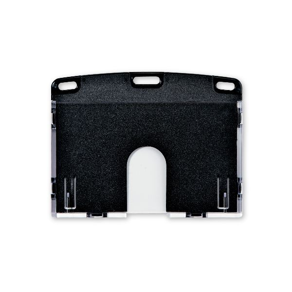 オープン工業 NX-103P-BK ストアー 名札用ケース アーバンハードID1枚 黒 NX103PBK IDケース用名札ケース黒 上からスライド式 OPEN 大好評です ハードタイプ ヨコ名刺サイズ カード