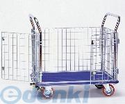 [1-6290-01] 観音扉型金網台車 NK-307K 1629001【送料無料】