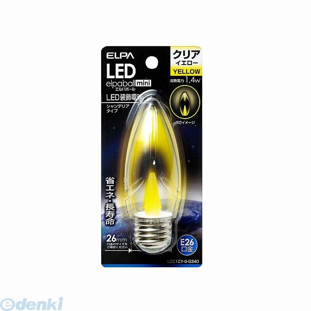 ストアー 朝日電器 ELPA LDC1CY-G-G340 E26 LEDシャンデリア球 LDC1CYGG340 国内正規総代理店アイテム