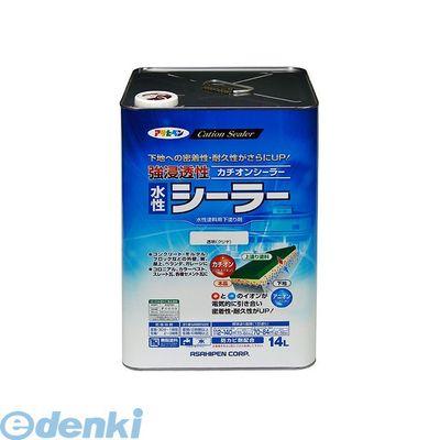 アサヒペン 4970925458193 アサヒペン 強浸透性水性シーラー 14L 透明 クリヤ