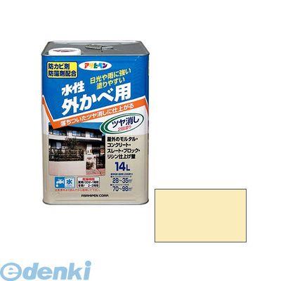 アサヒペン 4970925450036 アサヒペン 水性外カベツヤ消し 14L クリーム色