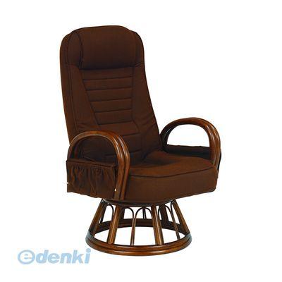 [RZ-1257BR] 「直送」【代引不可・他メーカー同梱不可】 ギア付き回転座椅子RZ1257BR
