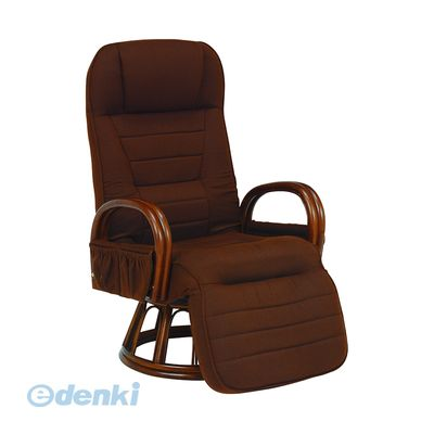 [RZ-1258BR] 「直送」【代引不可・他メーカー同梱不可】 ギア付き回転座椅子RZ1258BR