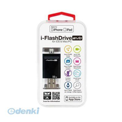 【個数:1個】「直送」【代引不可・同梱不可】[IFDEVO32GB] Photofast i-FlashDrive EVO for iOS&Mac/PC Apple社認定 LightningUSBメモリー 32GB