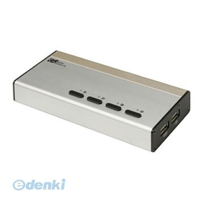 【個数:1個】「直送」【代引不可・同梱不可】[REX-430UDA] ラトックシステム USB接続DVI/Audio対応【PC 4台用】【送料無料】