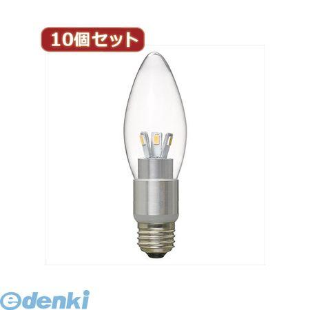 【個数:1個】[LDC4LG37DX10]「直送」【代引不可・同梱不可】YAZAWA 【10個セット】 調光対応シャンデリア形LEDランプ【送料無料】