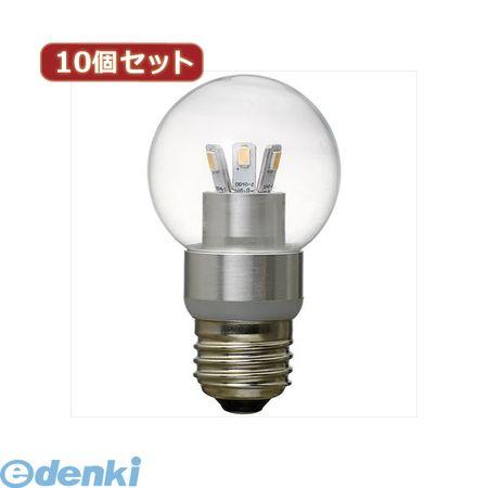 【個数:1個】[LDG3LG50X10]「直送」【代引不可・同梱不可】YAZAWA 【10個セット】 G50ボール形LED電球3W電球色【送料無料】