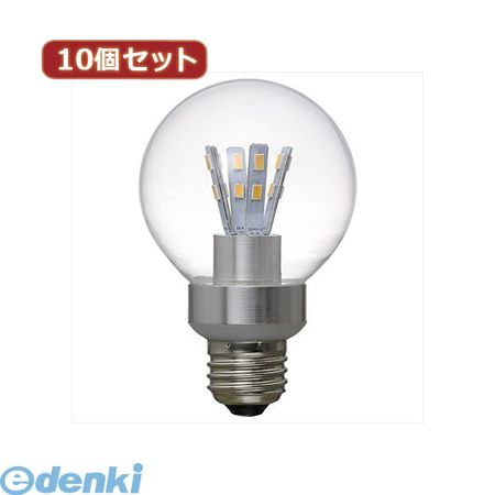 【個数:1個】[LDG5LG70X10]「直送」【代引不可・同梱不可】YAZAWA 【10個セット】 G70ボール形LED電球5W電球色【送料無料】