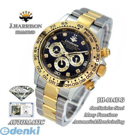 【個数:1個】 JH-014DG 直送 代引不可・同梱不可 J.HARRISON 8石天然ダイヤモンド付自動巻&手巻き時計JH014DG【送料無料】