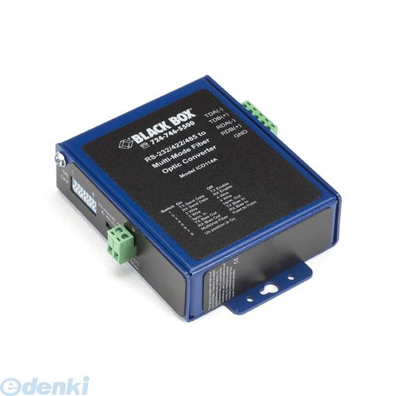【キャンセル不可 - 納期約2週間】ブラックボックス(BLACK BOX) [ICD114A] インダストリアル光絶縁シリアル<->光ファイバ・コンバータ マルチモードSC【送料無料】
